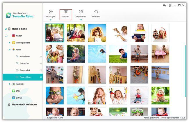 Fotos im iPhone Fotoarchiv löschen