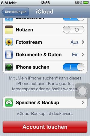 sms sichern iphone