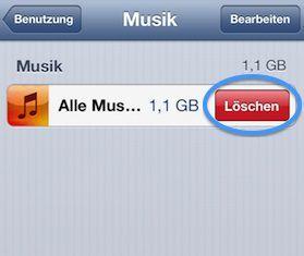 iphone musik entfernen