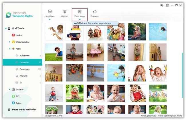 Fotos vom iPod auf PC übertragen