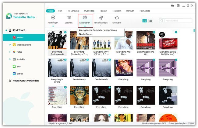 Musik vom ipod auf itunes/PC übertragen