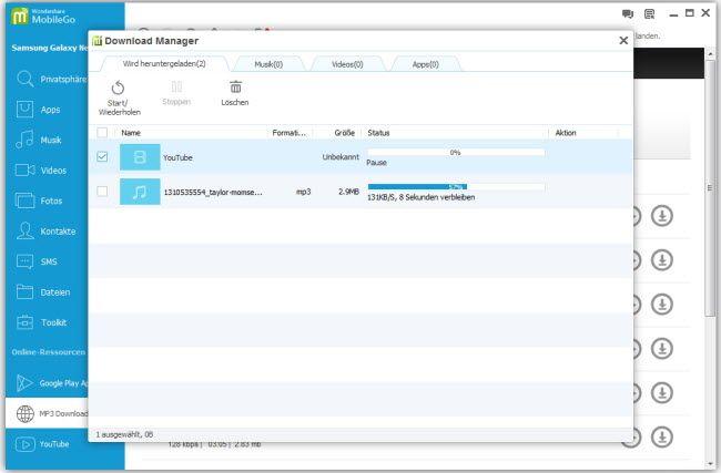 Musik vom Computer auf Nexus 7 übertragen