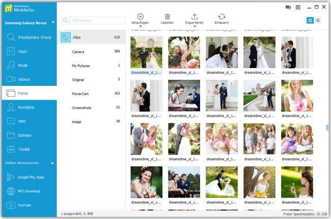 Fotos vom Computer auf Nexus 7