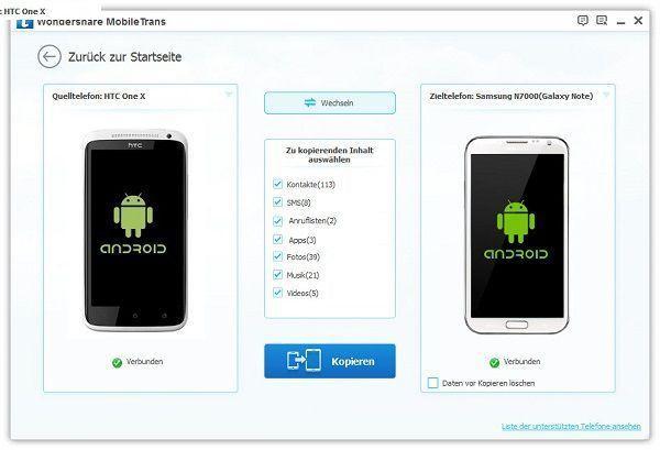 musik vom mobilgerät auf android