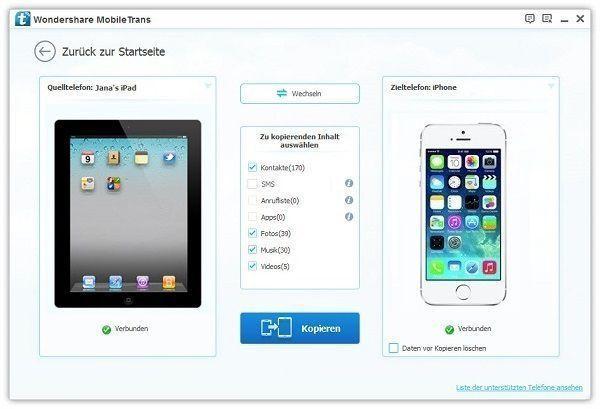 Wie man Dateien vom iPad aufs Android überträgt