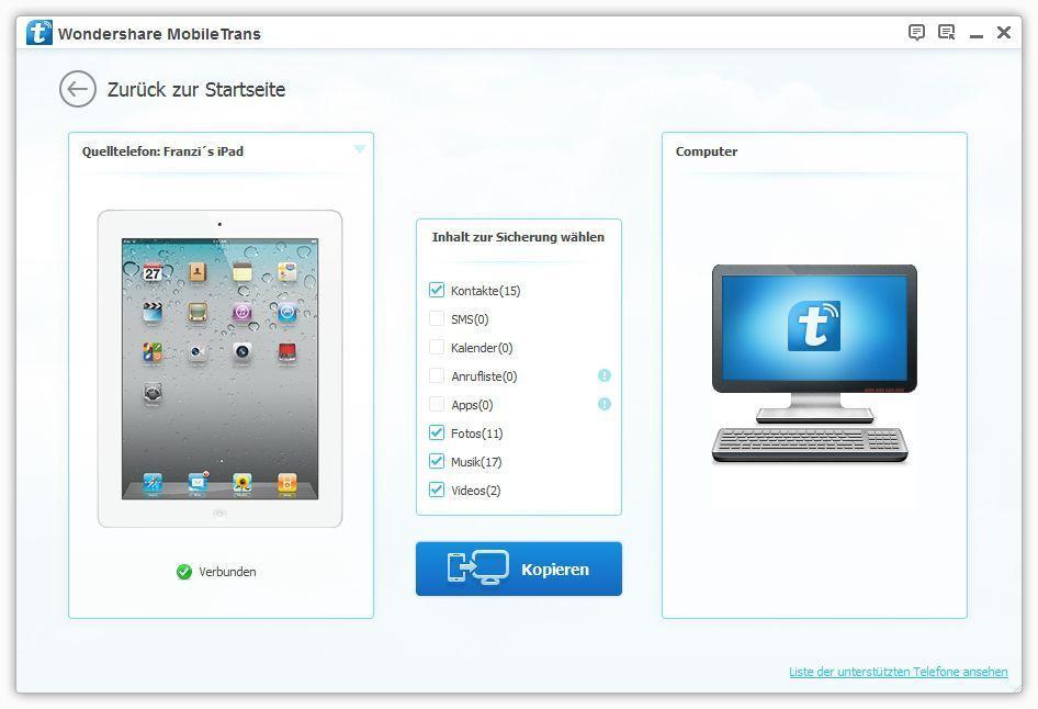 3 wege eines ipad backups bevor sie es auf ios 8 updaten. Black Bedroom Furniture Sets. Home Design Ideas