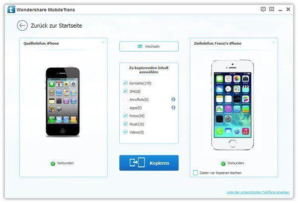 kontakte vom alten iphone aufs neue ohne itunes