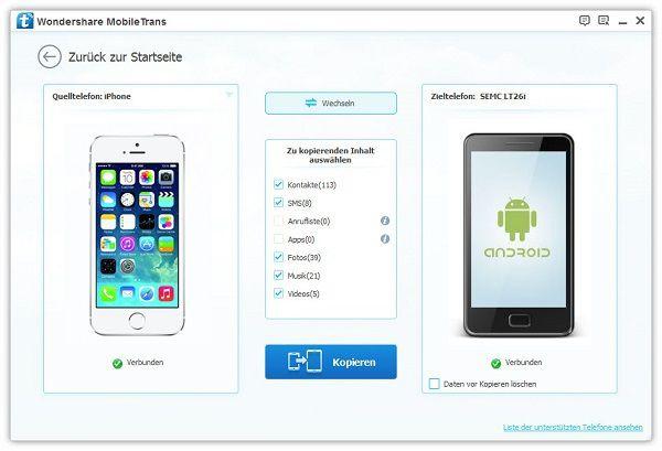 iphone kontakte zu sony xperia übertragen