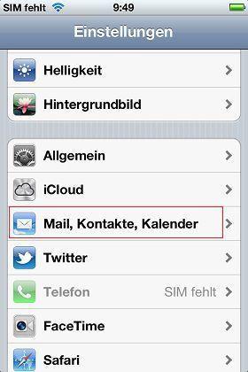 kSamsung Email und Kalender auf iPhone transferieren