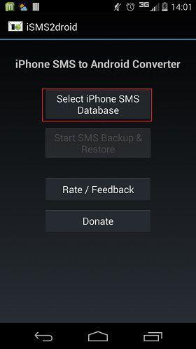 Select iPhone SMS database