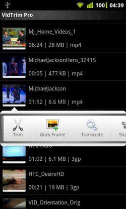 Anroid Video bearbeiten mit vidtrim pro