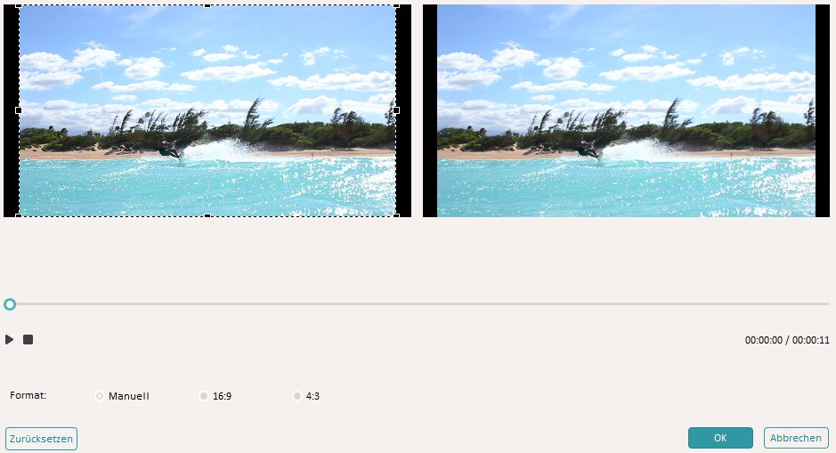 Videoclip bearbeiten - Video beschneiden