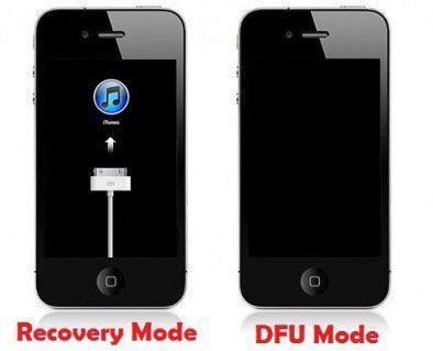 wartungsmodus vs dfu modus