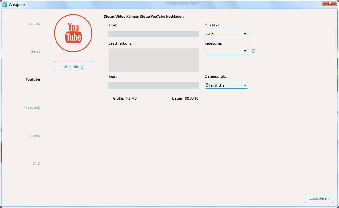 Videobearbeitung mit Wondershare Filmora (Vormals Wondershare Video Editor)