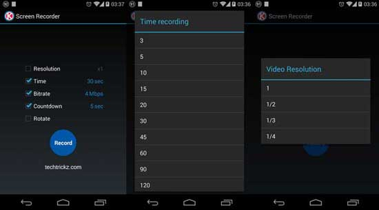 Screen Recorder For the Android