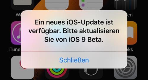 Neuste iOS-Version installieren