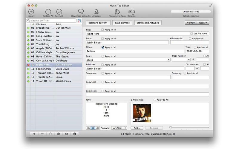 Die beste Audio Tag-Editor Software für Windows/OSX/Linux