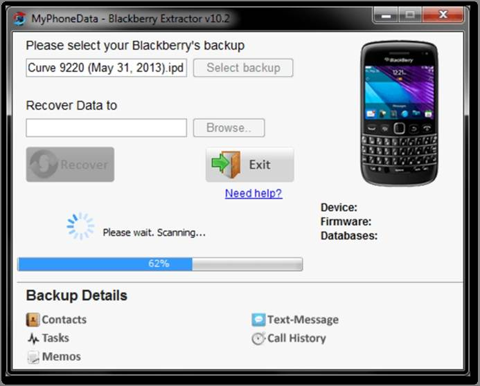 Top 3 der einfachen BlackBerry-Backup-Entpacker