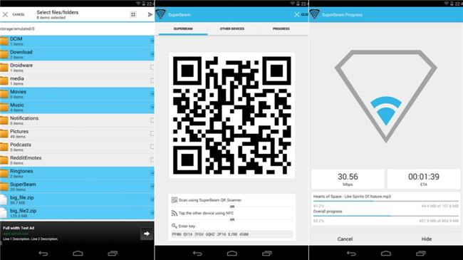 Top 10 Apps zur Dateiübertragung für Android-Daten