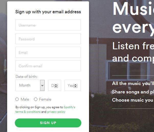 Tips for beginner spotify username,spotify password