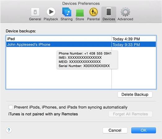 So löschen Sie ein iTunes-Backup