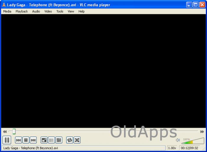 Fünf ältere Versionen des VLC