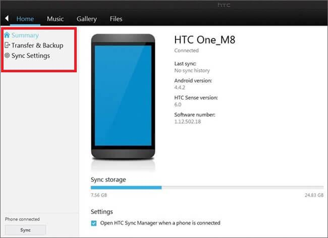Wie Sie den HTC Sync Manager nutzen, um ein HTC zu sichern und wiederherzustellen