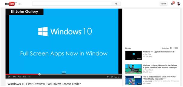 Erfahren Sie aus 5 Trailern mehr über Windows 10