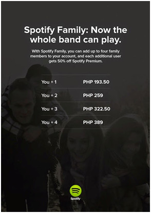 listen to spotify unlimited via spotify family