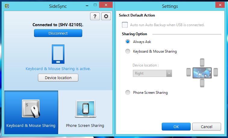 Wissen über Samsung Sidesync
