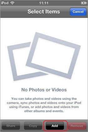 So verschieben Sie Fotos aus den Kameraaufnahmen in ein Album