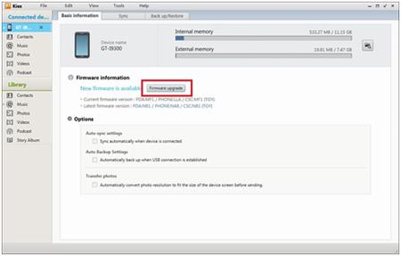Wie man Samsung Kies einsetzt, um Samsung Smartphones upzudaten