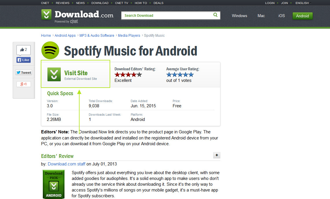 how to download spotify android