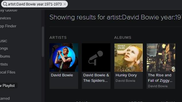 use Spotify search and how to search playlist