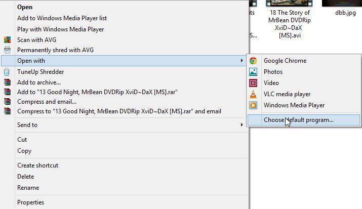 Änderung des Standard-Players von XMBC zu VLC?