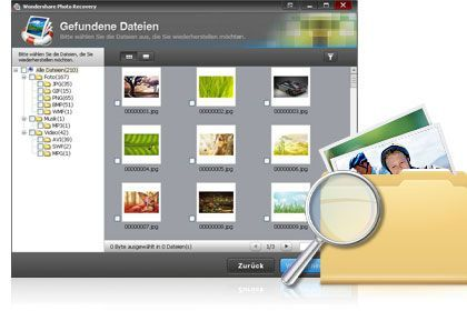 Photo Recovery key feature