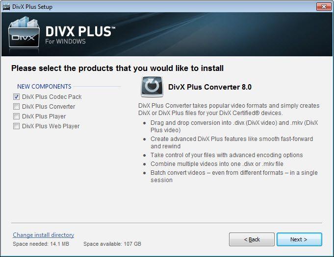add divx code