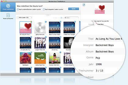 TidyMyMusic für Mac key feature