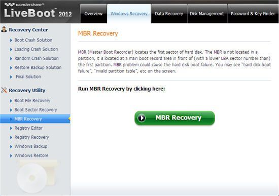 mbr error recovery