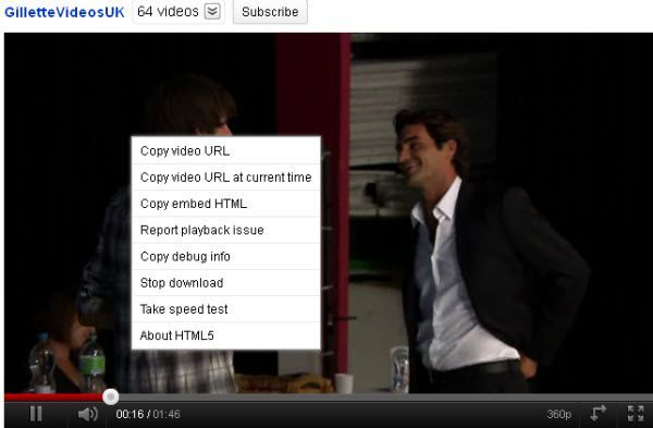 youtube html5 player
