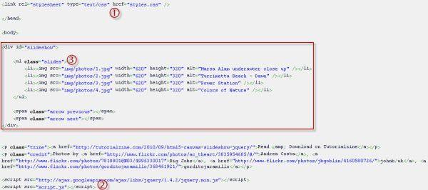 html5 slideshow code