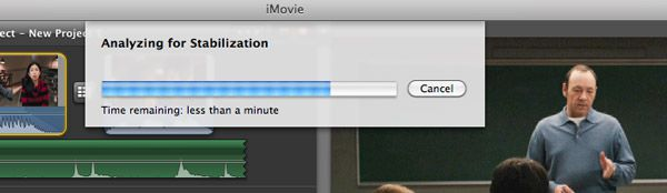 stabilize videos in iMovie