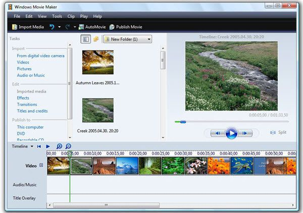 Windows Movie Maker Videobearbeitung Freeware