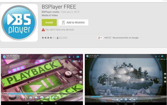 BS Player für Android