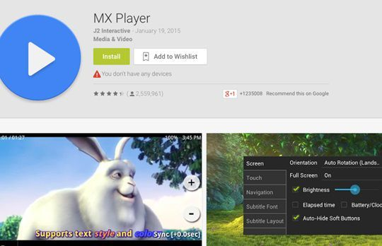 Android Video Player - MX Player