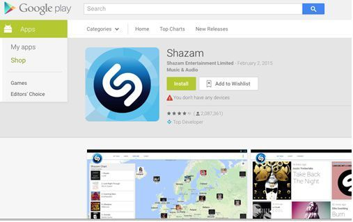 android musc download - shazam