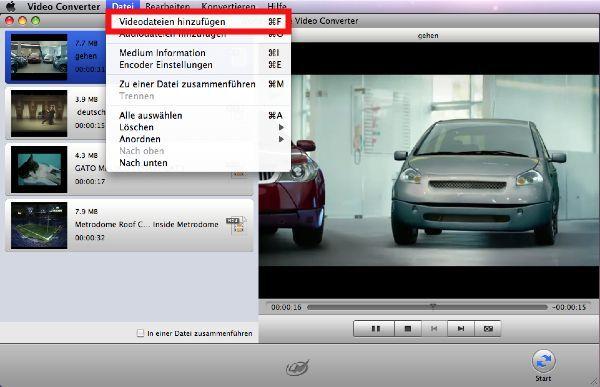 wmv in mp3 konvertieren-Videos hinzufügen