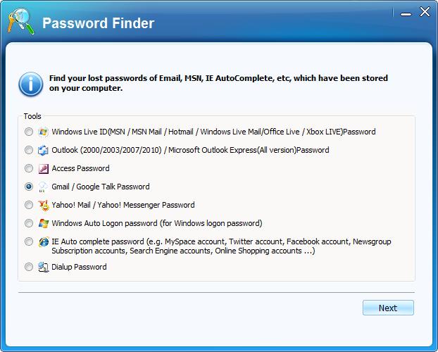 gmail password hacker
