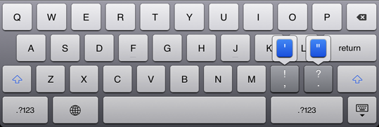 iPad Tastaturabkürzungen