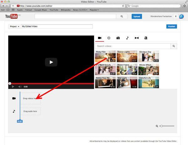 youtube video editor zum Zusammenfügen YouTube Videos online